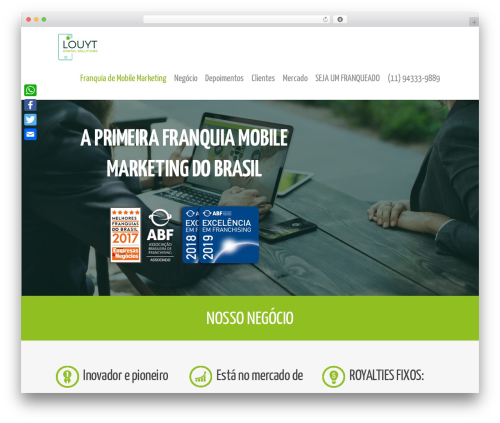 Salient WordPress theme design - franquias.louyt.com