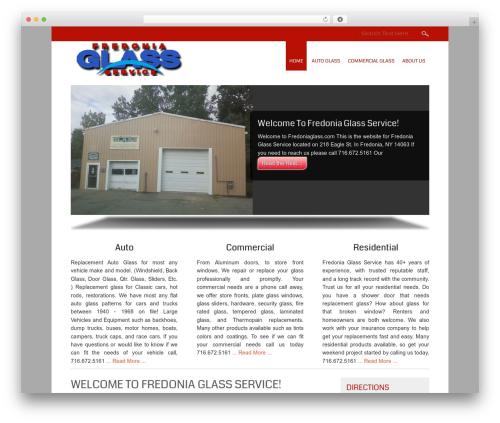Small Business free WordPress theme - fredoniaglass.com