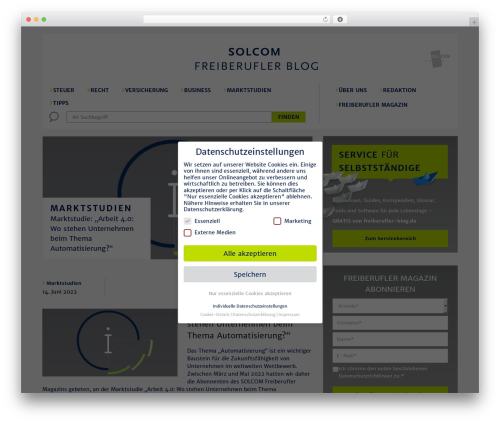 SmartMag WordPress blog theme - freiberufler-blog.de