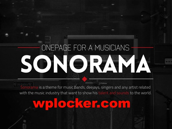 Sonorama (shared on wplocker.com) WordPress page template