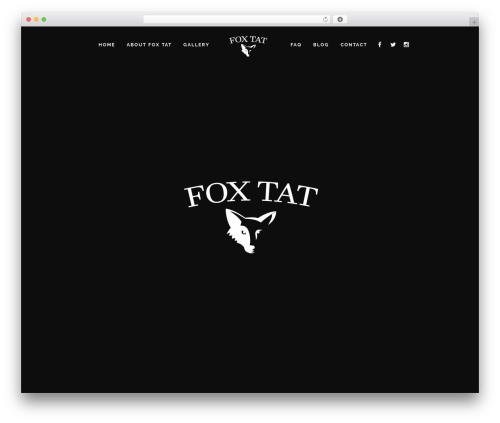 TattoPro theme WordPress - foxtat.com