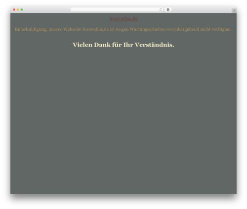 tegude WordPress template - forst-atlas.de