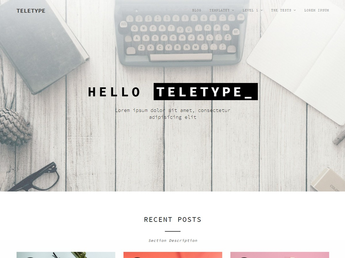 Teletype free WP theme