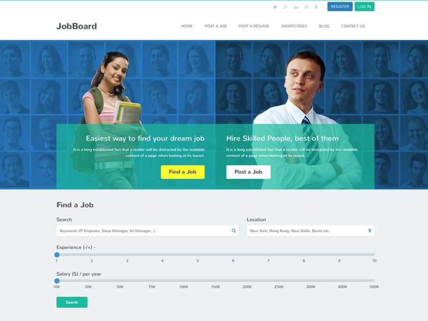 Template WordPress JobBoard