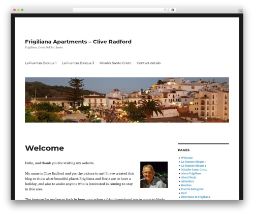 Template WordPress Twenty Sixteen - frigiliana-apartment.co.uk
