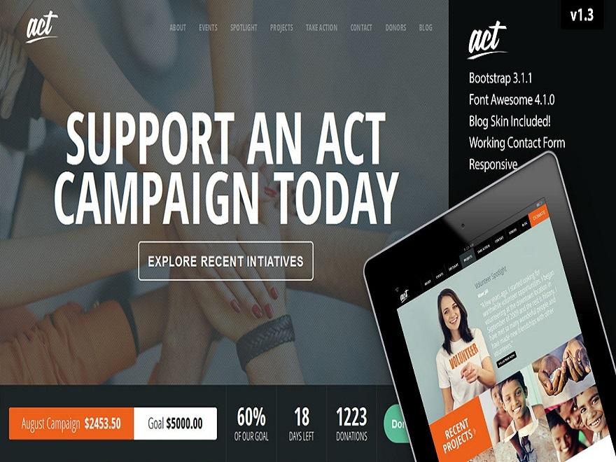 Theme WordPress Act