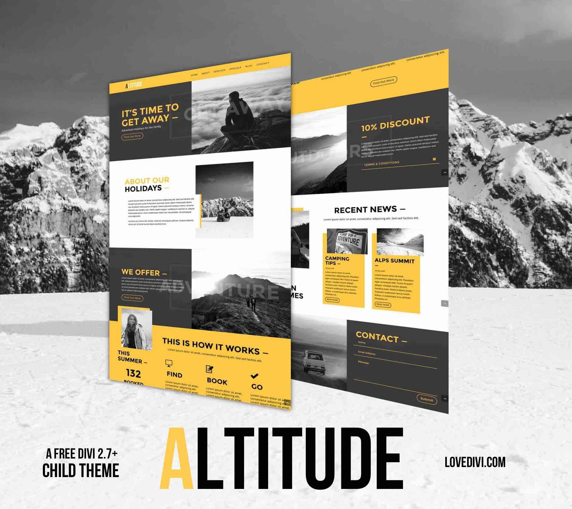 Theme WordPress Altitude by LoveDivi