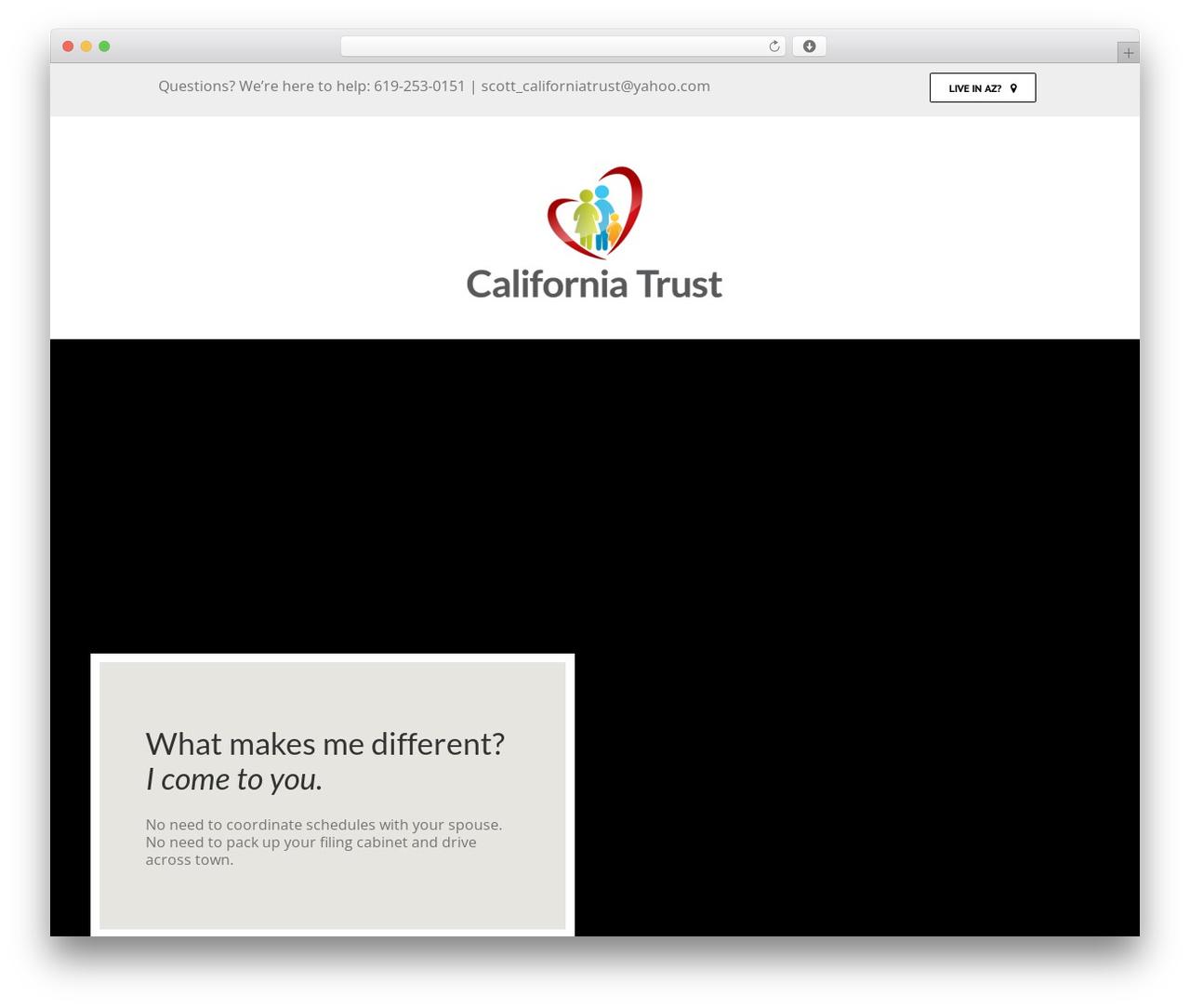 Theme WordPress Avada - familytrust4you.com/california