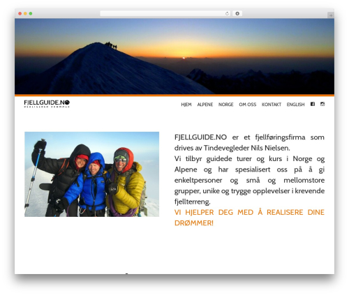 Theme WordPress Wall Street - fjellguide.no