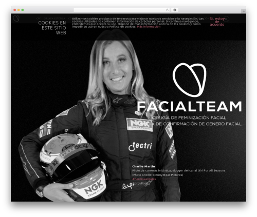 Themify Parallax WordPress page template - facialteam.es