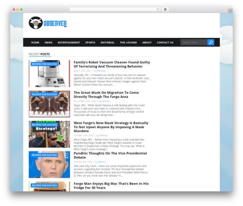 Today best WordPress magazine theme - fmobserver.com