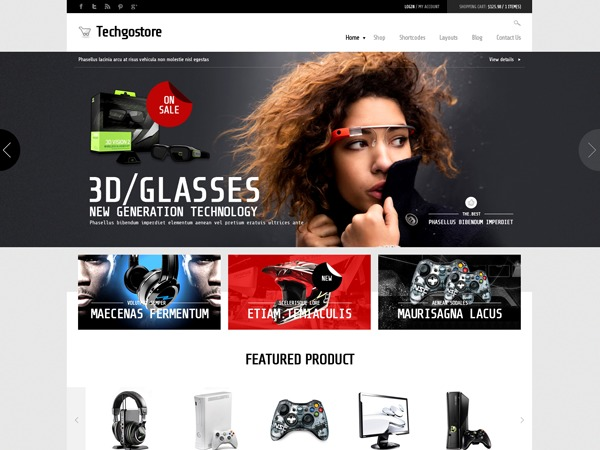 WD TechGoStore WordPress shopping theme