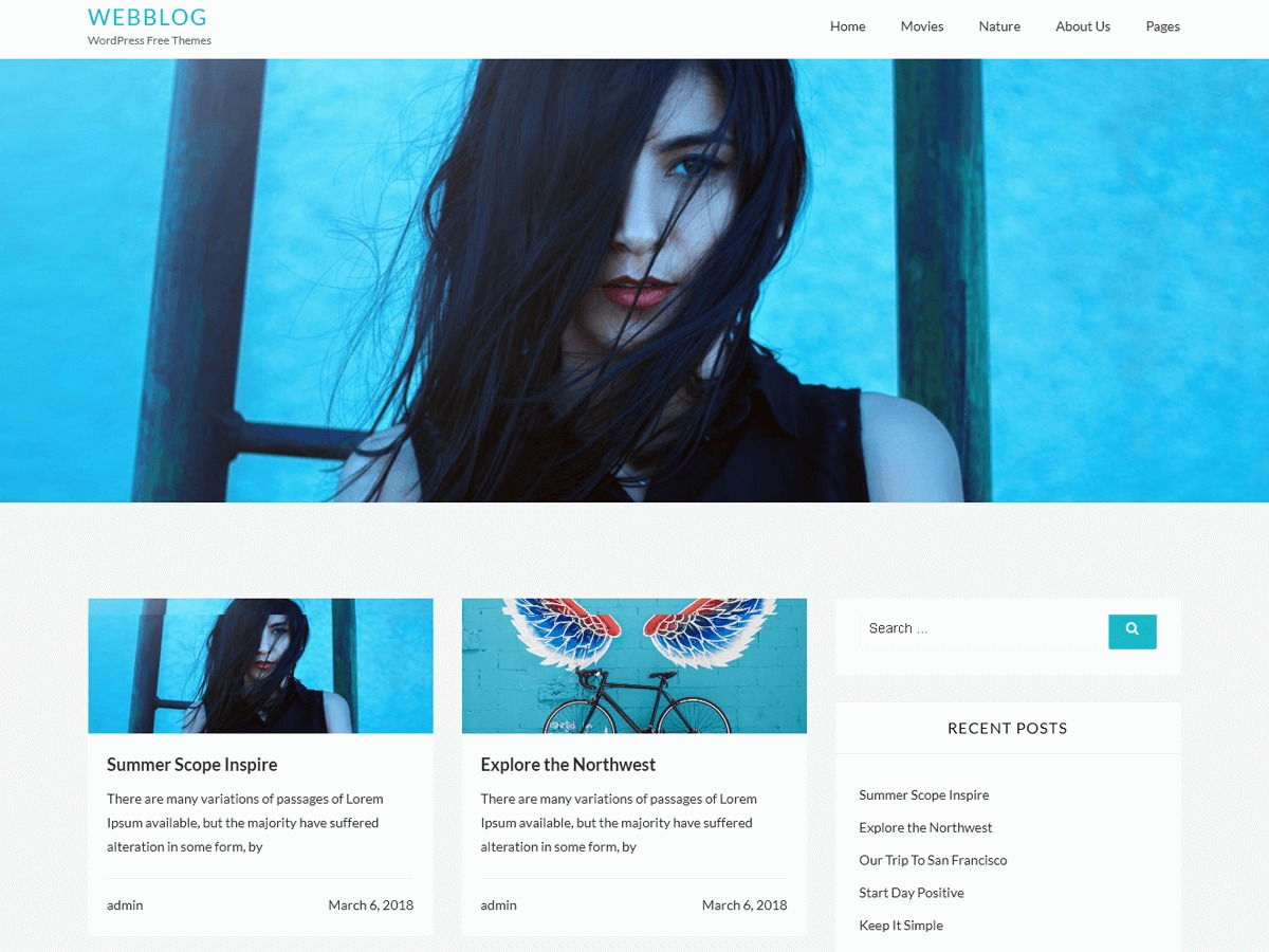 Webblog WordPress blog theme