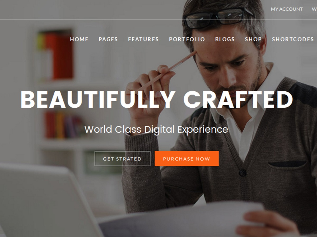 WordPress theme Fekra