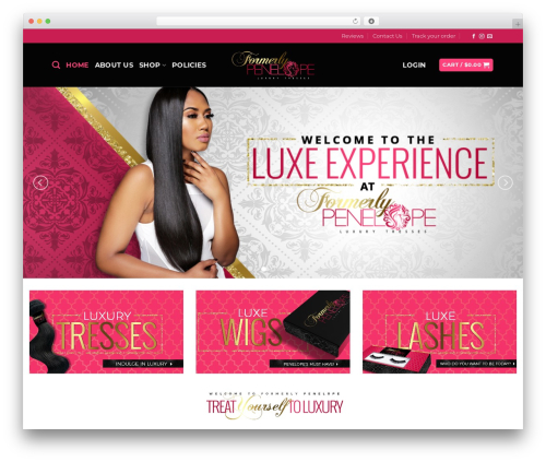 WordPress theme Flatsome - formerlypenelope.com