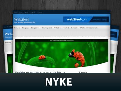 WordPress theme Nyke
