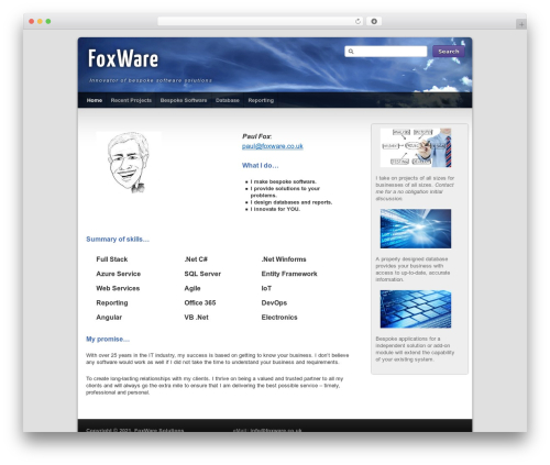 Free WordPress 3D Tag Cloud plugin - foxware.co.uk