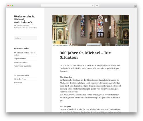 WordPress theme Twenty Fifteen - fuer-unsere-kirche.de