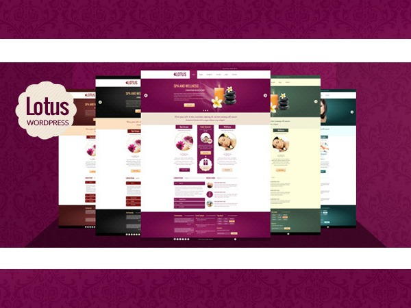 WordPress website template Lotus