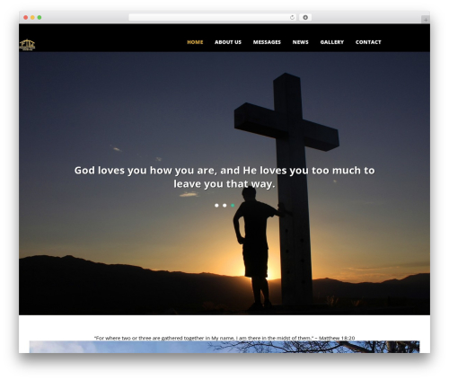 WordPress website template Utmost - finishingtouchministries.com