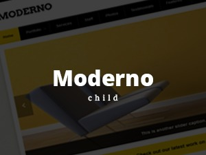 WP template Moderno Child Theme