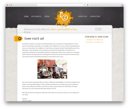 Writer Child WordPress theme - foxwineco.com