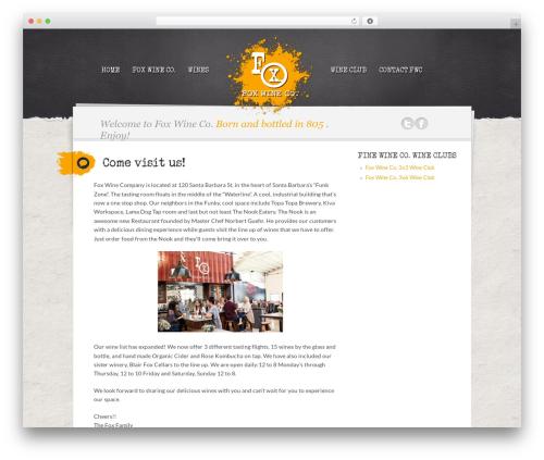 Writer Child WordPress theme - foxwineco.com