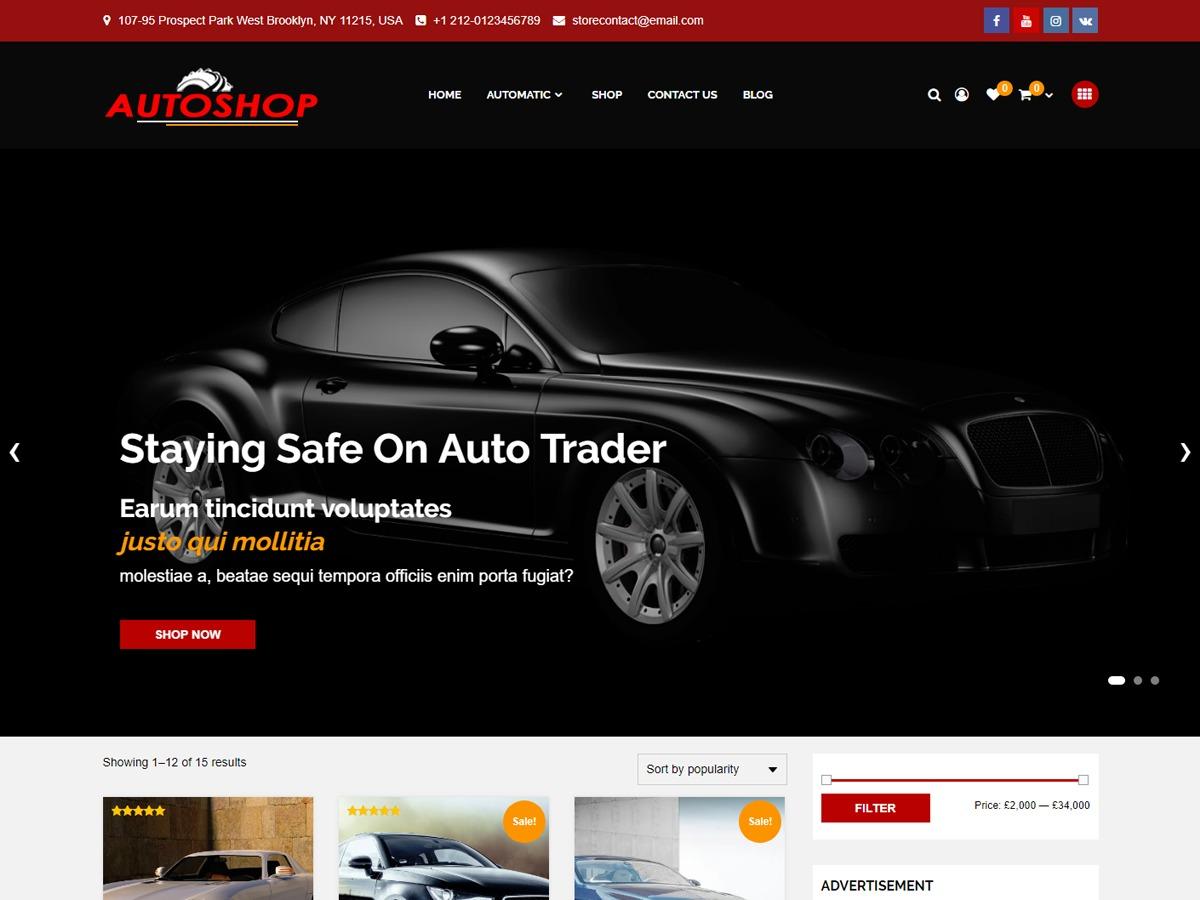autoshop WordPress shop theme