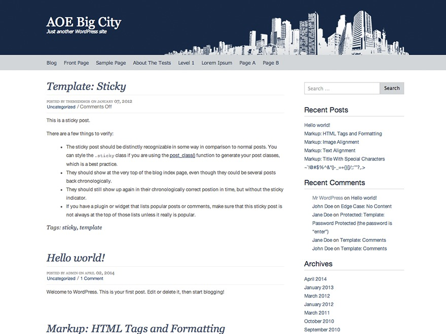 Big City Child theme WordPress by Malcolm Morris
