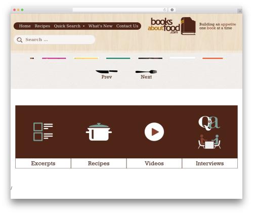 WordPress megamenu-pro plugin - booksaboutfood.com