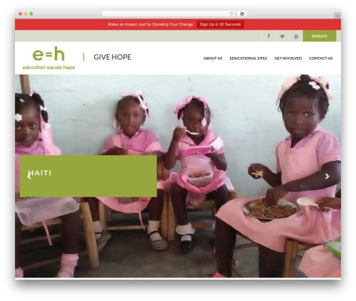 Charity WPL WordPress theme - educationequalshope.org