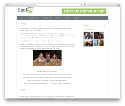 Fresh And Clean WordPress website template - equi-do.nl