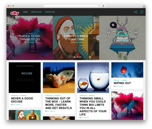 Genie WordPress blog template - ebymathew.com.au