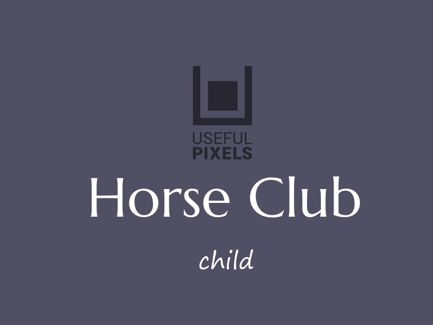 Horse Club Child WordPress template