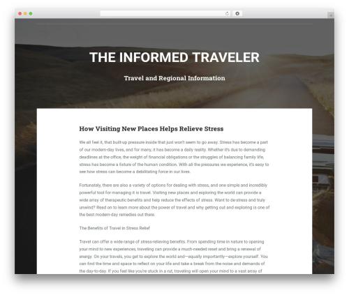 Padhang WordPress travel theme - bookpanama4u.com