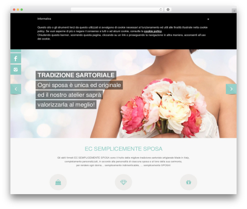 Salient premium WordPress theme - ecsemplicementesposa.com
