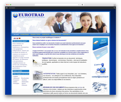 WordPress theme Weaver II - eurotrad.fr