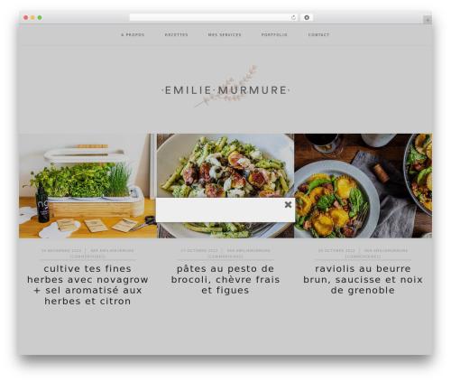 Cookd Pro Theme theme WordPress - emiliemurmure.com