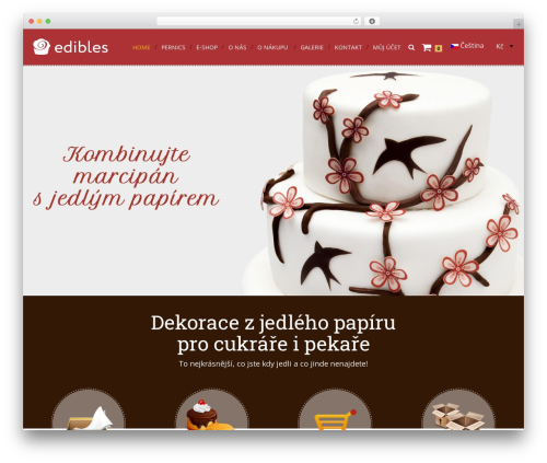 Cream Child Theme WordPress template - edibles.eu
