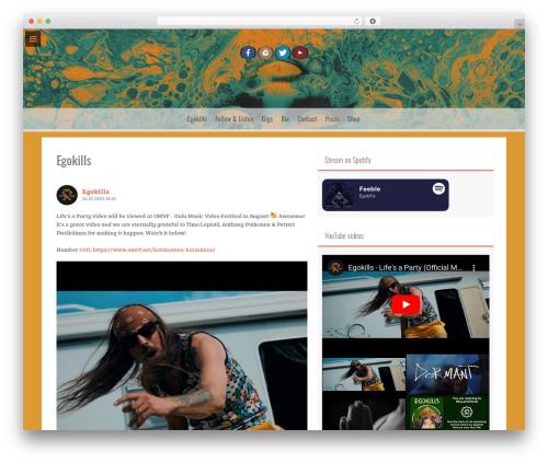 Freak free WordPress theme - egokills.net