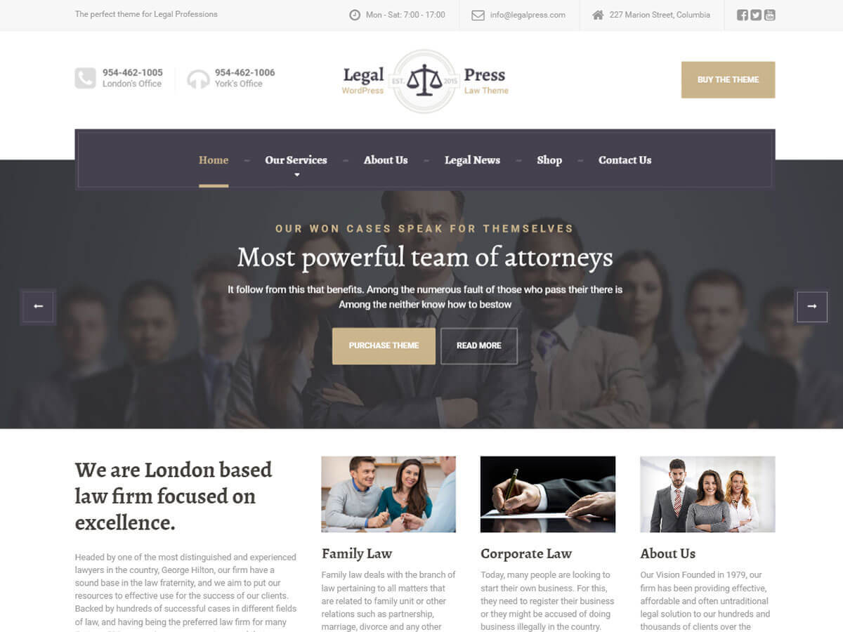 LegalPress PT business WordPress theme