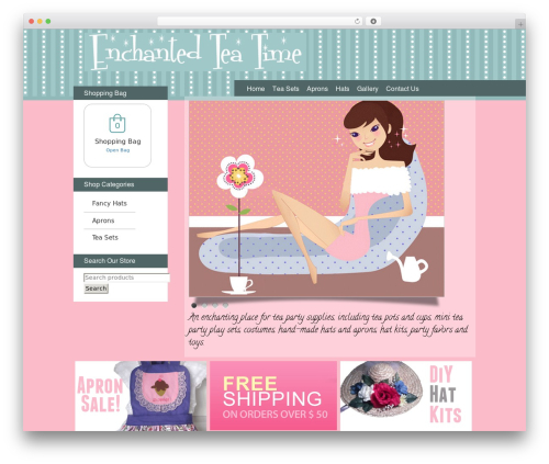 Theme WordPress BLANK Theme - enchantedteatime.com