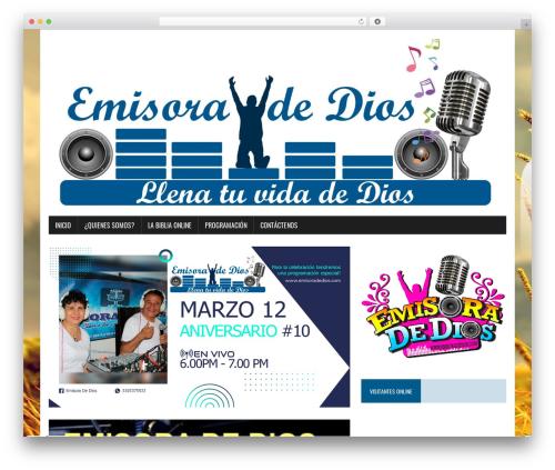 Theme WordPress MH Newsdesk lite - emisoradedios.com