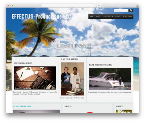 Travel Lite template WordPress free - effectus-productions.com