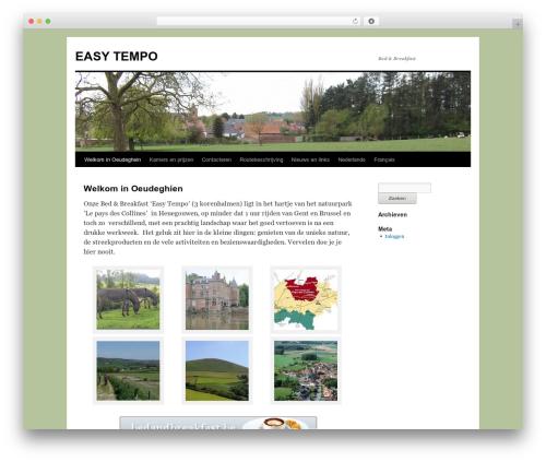 Twenty Ten free WP theme - easytempo.be/?lang=nl