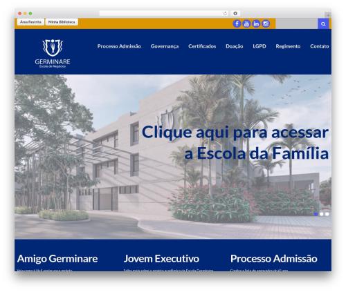 WordPress website template cherry - escolagerminare.org.br