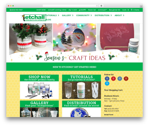 Divi WordPress theme - etchall.com