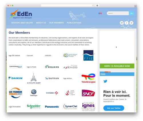 Eden WordPress theme design - equilibredesenergies.org