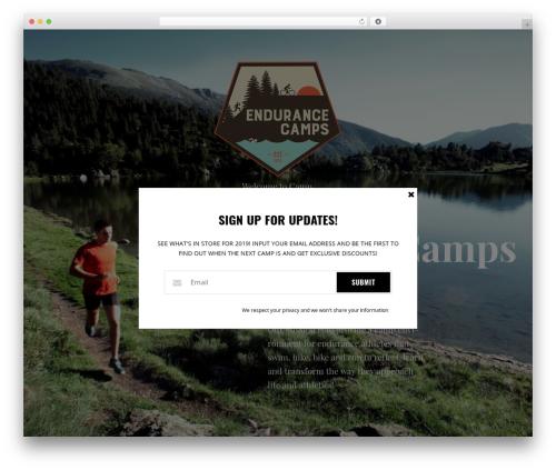 Pathter WordPress theme - endurancecamps.com