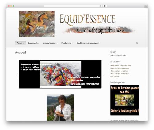 Souffle theme WordPress - equidessence.com